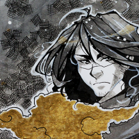 ink-wash-gold-paint-drawing-casey-draws-anime-manga