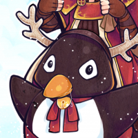 tree-of-savior-pyromancer-christmas-penguin-casey-draws-art-anime-manga-fan